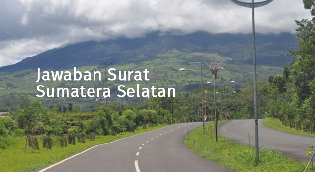 lirik jawaban surat sumatera selatan