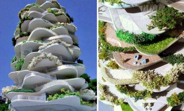 arsitektur aneh Urban Cactus