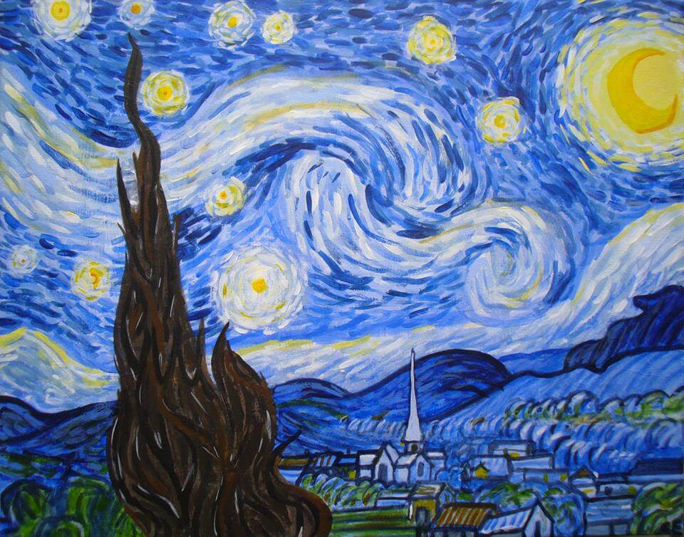 "Lukisan ""Starry Night"""