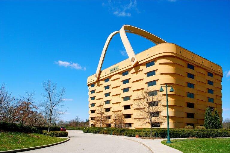 The Basket Building, arsitektur unik menyerupai keranjang